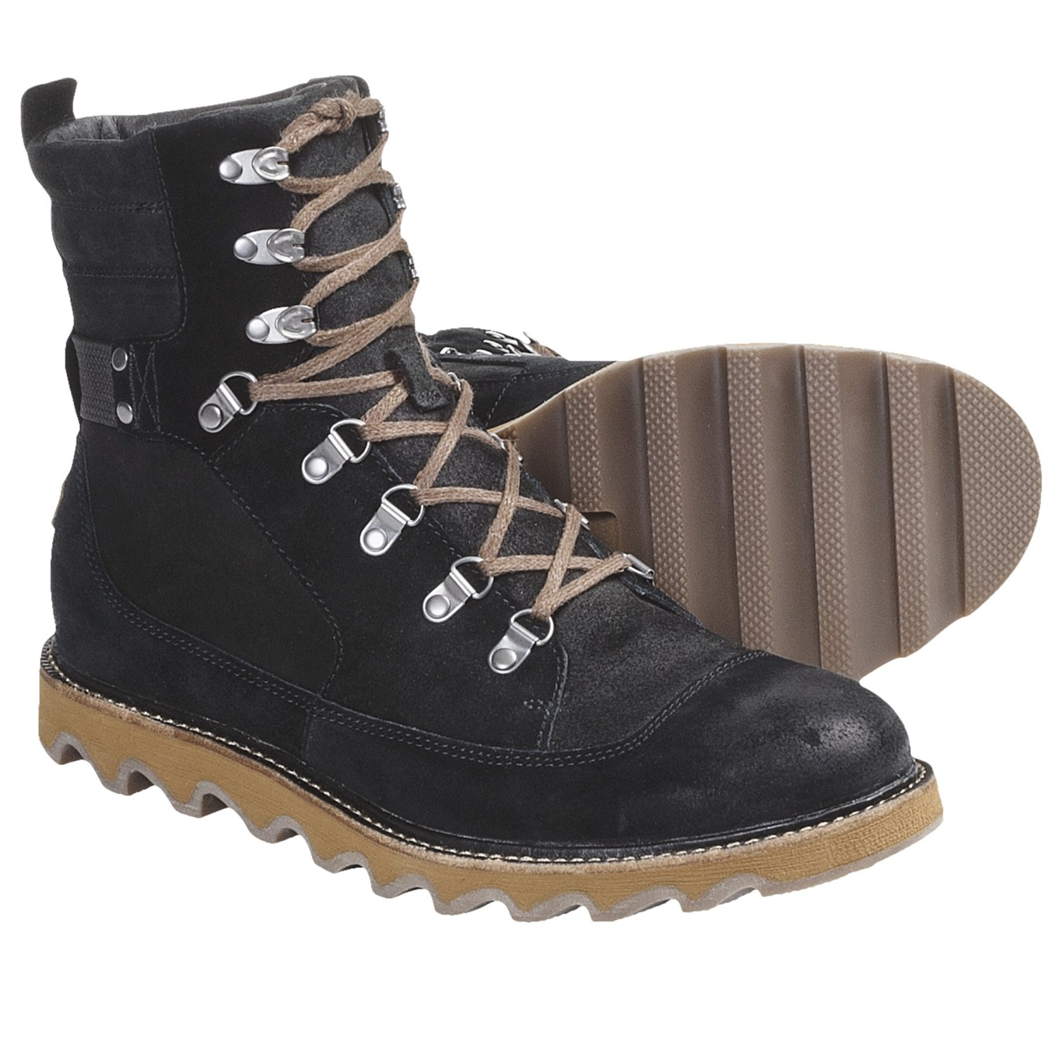 sorel mad mukluk boots suede for in black