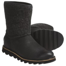 Sorel Mad Slip Boots - Leather, Felt (For Men) in Black - Closeouts