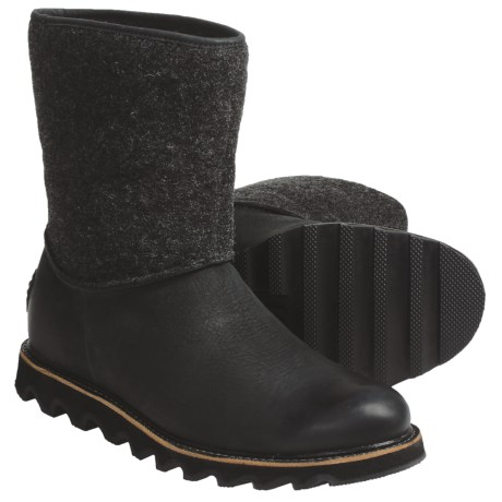 Sorel Mad Slip Boots - Leather, Felt (For Men) in Black