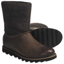 Sorel Mad Slip Boots - Leather, Felt (For Men) in Cappuccino - Closeouts