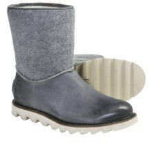 Sorel Mad Slip Boots - Leather, Felt (For Men) in Wild Dove - Closeouts