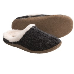 Sorel Nakiska Slide Knit Slippers (For Women) in Black/Gum