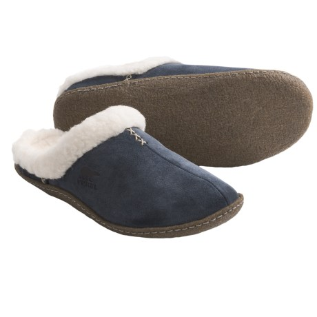 Sorel Nakiska Slides - Suede (For Women) in Abyss