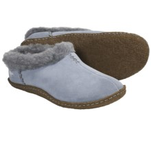 Sorel Nakiska Slippers - Faux-Fleece Lining (For Women) in Light Metal/Gum - Closeouts