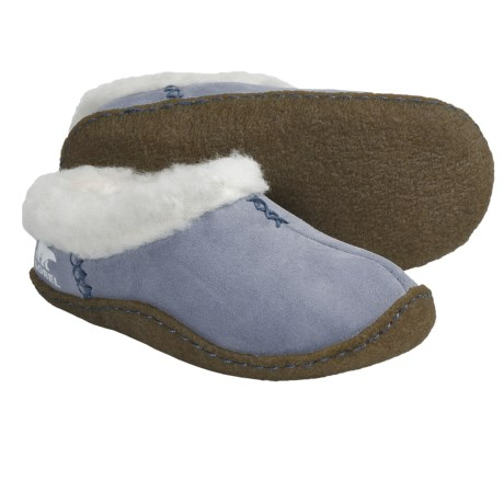 Sorel Nakiska Slippers - Suede (For Kids) in Mirage