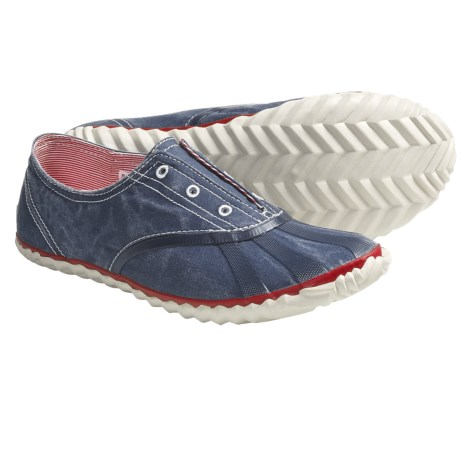 Sorel Picnic Plimsole Shoes - Canvas Sneakers (For Women) in Whale
