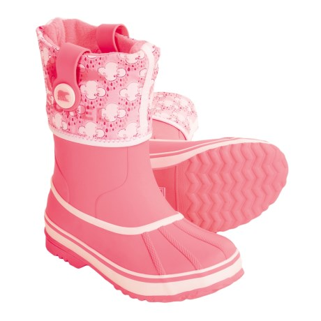 Sorel Rainbou Winter Pac-Rain Boots - Waterproof, Insulated (For Kids and Youth) in Lollipop