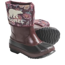 Sorel Rainbou Winter Pac-Rain Boots - Waterproof, Insulated (For Kids and Youth) in Port Royal/Black - Closeouts
