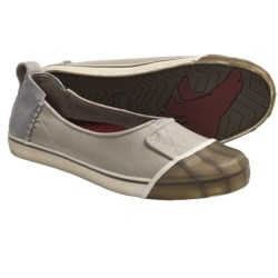 Sorel Sentry Canvas Slip-On Shoes (For Women) in Silver Lining