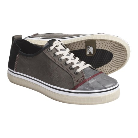 Sorel Sentry Sneakers - Leather-Suede (For Men) in Dark Dull Grey