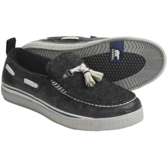 Sorel Sentry Tassel Shoes - Felt, Slip-Ons (For Men) in Black/Oyster Grey