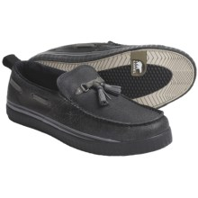 Sorel Sentry Tassel Shoes - Waxed Suede-Canvas, Slip-Ons (For Men) in Black - Closeouts