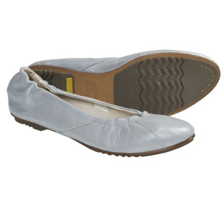 Sorel Skimmer Metallic Shoes - Leather, Slip-Ons (For Women) in Grout