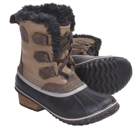 Sorel Slimpack Pac Boots - Waterproof, Insulated (For Women) in Fossil