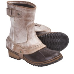 Sorel Slimpack Short Riding Boots - Waterproof, Insulated (For Women) in Curry