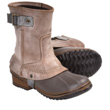 Sorel Slimpack Short Riding Boots - Waterproof, Insulated (For Women) in Elk - Closeouts