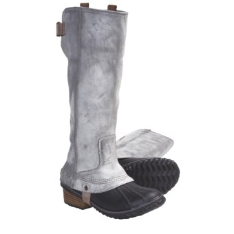 Sorel Slimpack Tall Riding Boots - Waterproof, Insulated  (For Women) in Charcoal