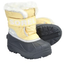 Sorel Snow Commander Winter Boots - Insulated (For Kids) in Cane/Winter White - Closeouts