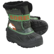 Sorel Snow Commander Winter Boots - Insulated (For Kids) in Deep Woods/Harvester - Closeouts