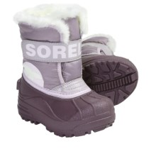 Sorel Snow Commander Winter Boots - Insulated (For Kids) in Vapor/Dreamy - Closeouts