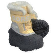 Sorel Snow Commander Winter Boots - Insulated (For Toddlers) in Cane/Winter White - Closeouts