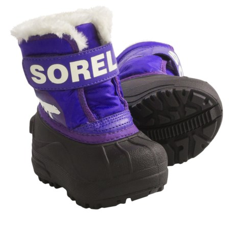 Sorel Snow Commander Winter Boots - Insulated (For Toddlers) in Grape Juice/Uw Purple
