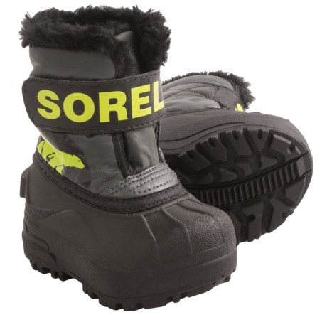Sorel Snow Commander Winter Boots - Insulated (For Toddlers) in Grill/Fission