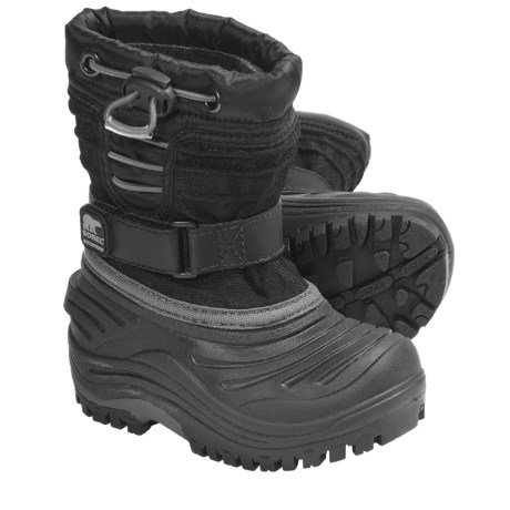 Sorel Snow Trooper TP Winter Pac Boots - Waterproof (For Toddlers) in Black
