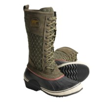 Sorel Sorelli Lace-Up Boots - Tall, Waterproof (For Women) in Cargo/Red Rover - Closeouts
