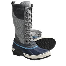 Sorel Sorelli Lace-Up Boots - Tall, Waterproof (For Women) in Wild Dove/Enamel Blue - Closeouts