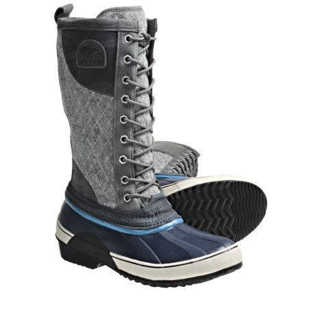 Sorel Sorelli Lace-Up Boots - Tall, Waterproof (For Women) in Wild Dove/Enamel Blue