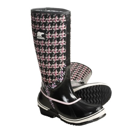 Sorel Sorellington TXT Boots - Waterproof Rubber (For Women) in Valentine/Black