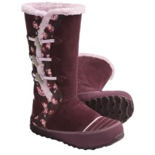 Sorel Suka 2 Boots - Fleece-Lined, Leather (For Youth) in Port Royal/Pink Lady - Closeouts