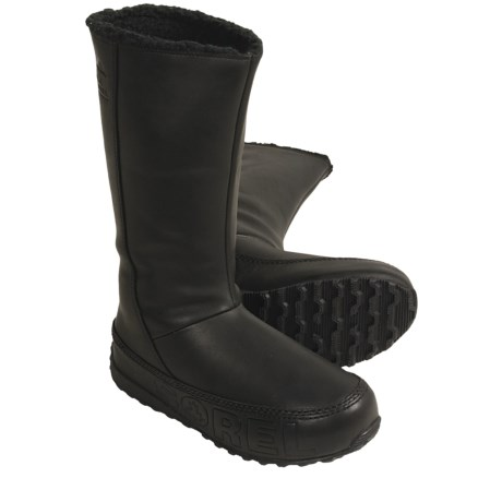 Sorel Suka Boots - Leather, Fleece-Lined (For Women) in Black