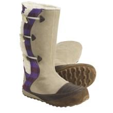 Sorel Suka II Leather Boots - Fleece-Lined (For Women) in British Tan/Royal Purple - Closeouts