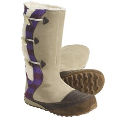 Sorel Suka II Leather Boots - Fleece-Lined (For Women) in British Tan/Royal Purple