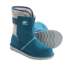 Sorel The Campus Boots - Suede-Felt  (For Youth Girls) in Siberia - Closeouts