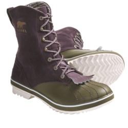 Sorel Tivoli Camp 18 Boots - Fleece Lining (For Women) in Fudge/Dark Olive