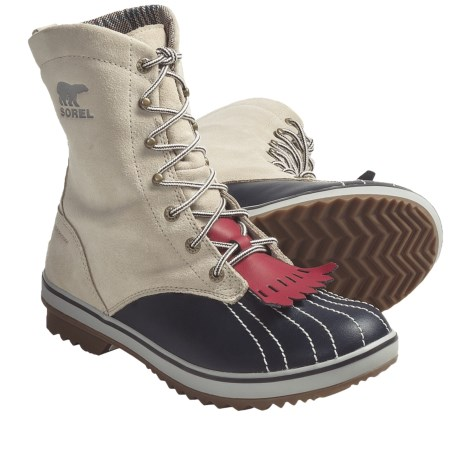 Sorel Tivoli Camp 18 Boots - Fleece Lining (For Women) in Fudge/Dark Olive
