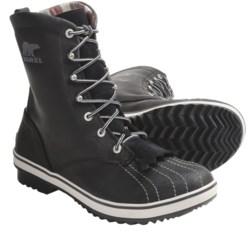 Sorel Tivoli Camp 18 Boots - Microfleece Lining (For Women) in Black/Silver Lining