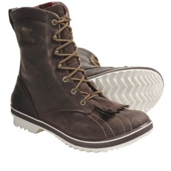 Sorel Tivoli Camp 18 Boots - Microfleece Lining (For Women) in Black/Silver Lining