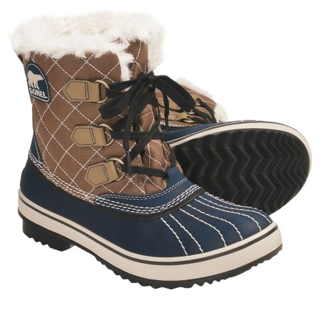 Sorel Tivoli Canvas Winter Boots (For Women) in Admiral/Autumn Bronze/Stone