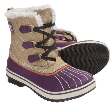 Sorel Tivoli Canvas Winter Boots - Insulated (For Youth) in Twill