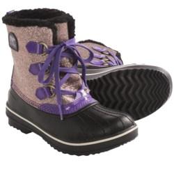 Sorel Tivoli Glitter Boots - Waterproof, Insulated (For Youth Girls) in Uw Purple