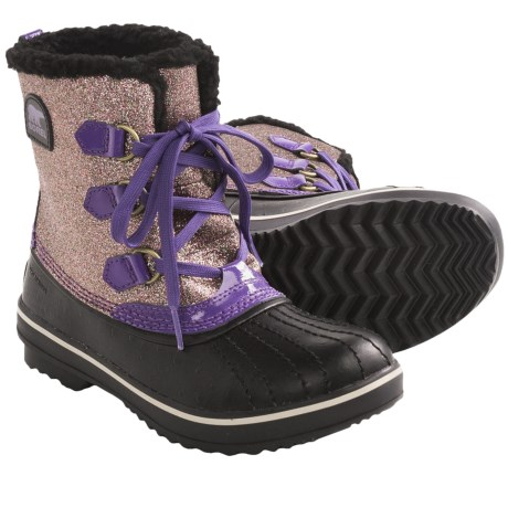 Sorel Tivoli Glitter Boots - Waterproof, Insulated (For Youth Girls) in Uw Purple