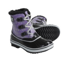 Sorel Tivoli Pac Boots - Waterproof, Insulated (For Youth) in Black/Royal Purple - Closeouts