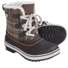 Sorel Tivoli Plaid Winter Boots - Insulated (For Youth) in Hawk - Closeouts