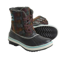 Sorel Tivoli Plaid Winter Pac Boots - Waterproof, Insulated (For Women) in Cinder/Reef - Closeouts