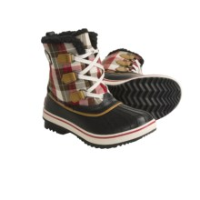 Sorel Tivoli Plaid Winter Pac Boots - Waterproof, Insulated (For Youth) in Black/Gypse - Closeouts