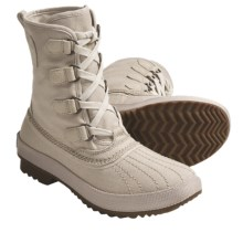 Sorel Tivoli Rugged Canvas Boots (For Women) in Oyster Grey - Closeouts